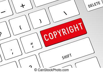 Copyright - 3D computer keyboard