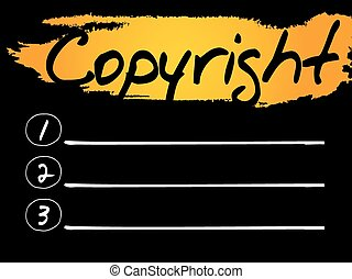 Copyright Blank List