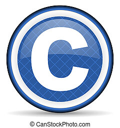 copyright blue icon