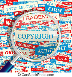 COPYRIGHT. Concept related words in tag cloud. Conceptual...