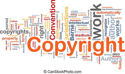 Copyright convention background concept - Background concept...
