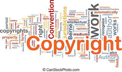Copyright convention background concept - Background concept...