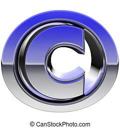 copyright, cromo, isolato, segno, pendenza, riflessioni,...