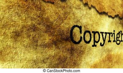 Copyright grunge concept