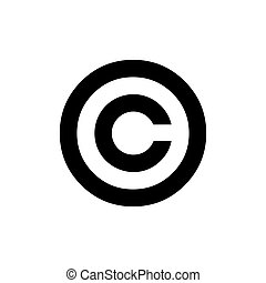 Copyright icon. C letter in a circle.