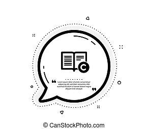 Copyright icon. Copywriting or Book sign. Vector - Copyright...