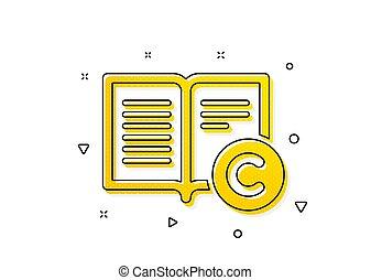 Copyright icon. Copywriting or Book sign. Vector - ...