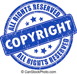 Copyright ink stamp isolated on white