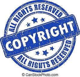 Copyright ink stamp