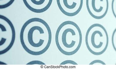 copyright jelkép, babácska, hajtás