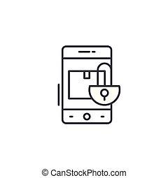 Copyright linear icon concept. Copyright line vector sign, symbol, illustration.