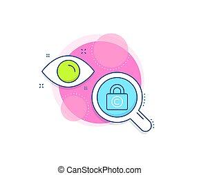 Copyright locker line icon. Copywriting sign. Vector - ...