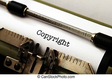 Copyright on typewriter