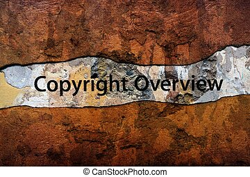 Copyright overview text on wall