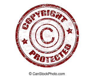 Copyright protected stamp - Grunge rubber stamp with the...