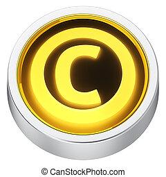 Copyright round icon