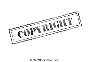 'COPYRIGHT' rubber stamp over a white background