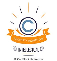 Copyright sign isolated icon, intellectual property right -...