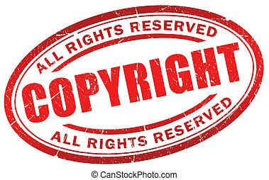 Copyright symbol - Copyright grunge symbol