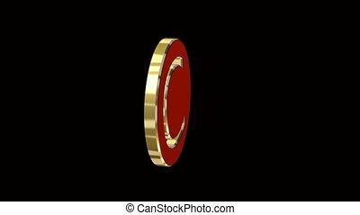 copyright symbol in 3d