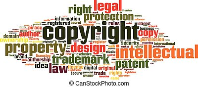 Copyright word cloud concept. Vector illustration