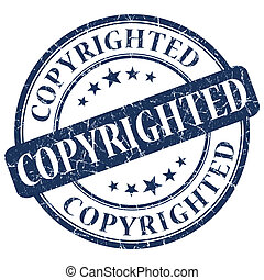 COPYRIGHTED Blue stamp