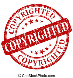 COPYRIGHTED red stamp