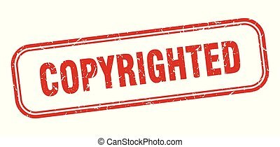 copyrighted stamp. copyrighted square grunge sign. copyrighted