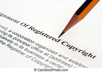 copyrignt, formulaire