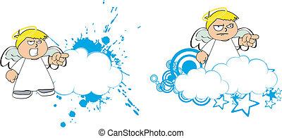 copysapce10, caricatura, anjo, criança