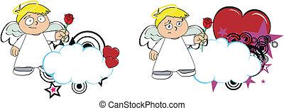 copysapce5, caricatura, anjo, criança