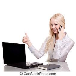 copyspace , νέος , επιχειρηματίαs γυναίκα , laptop , ...