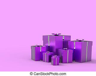 Birthday Mauve Showing Text Space And Happy