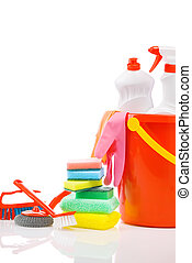copyspace composition of cleaning items