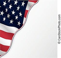 copyspace., drapeau, usa