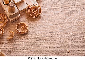 copyspace image composition vintage woodworkers plane wooden pla