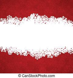 copyspace., kerstmis, achtergrond, rood