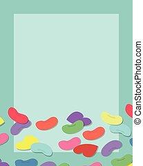 copyspace., quadro, doce, coloridos