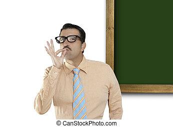 copyspace, tablica, duch, zielony, deska, czysty, nerd