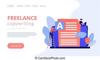 Copywriting concept landing page. - Copywriter at huge ...