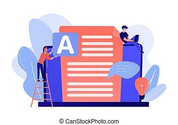 Copywriting concept vector illustration. - Copywriter at ...