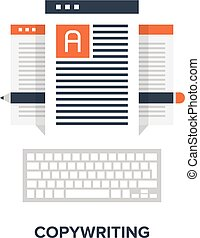 copywriting flat concept - Vector illustration of ...
