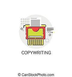 Copywriting Freelance Occupation Content Marketing Icon ...