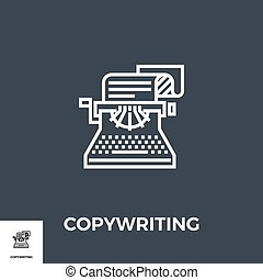 Copywriting Line Icon - Copywriting Related Vector Thin Line...