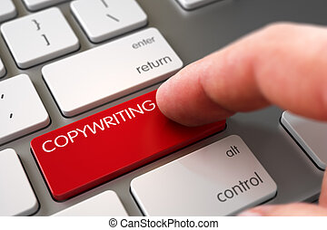 Copywriting - Modern Laptop Keyboard Concept.
