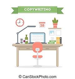 copywriting, munka, place.