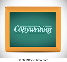 Copywriting sign illustration design