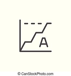 Copywriting statistic line icon isolated on white. Vector ...