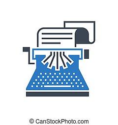 Copywriting Vector Glyph Icon - Copywriting Related Vector ...