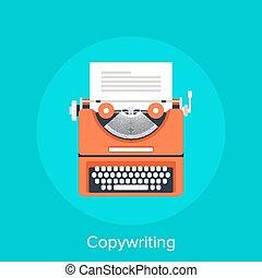 Copywriting - Vector illustration of copywriting flat design...
